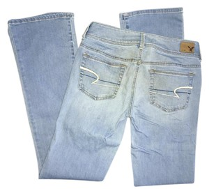 American Eagle Outfitters Light Wash Stretchy Flare Leg Jeans-Light Wash