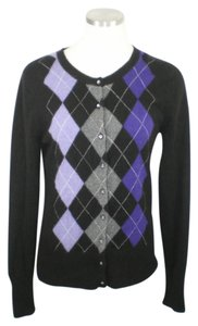 Apt. 9 Argyle Cashmere Button Down Cardigan