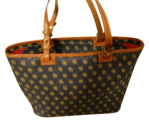 Dooney & Bourke Tote in Navy blue with tan