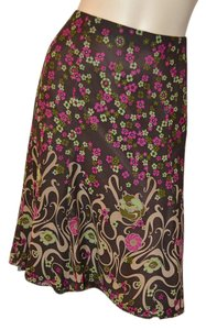 Nanette Lepore Floral Silk Skirt Multicolor