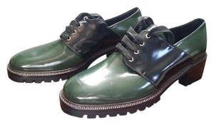 Max Mara Patent Leather Punky green and black Boots
