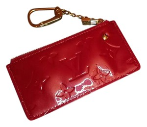 Louis Vuitton Louis Vuitton Vernis Pochette Cles Coin/Key Pouch In Pomme d'amour