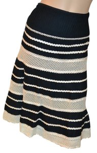 Nanette Lepore Lace Ribbon Cotton Lined Skirt Multicolor