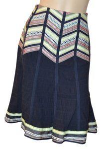 Nanette Lepore Ribbon Lined Skirt Navy