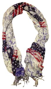 Claire's American Flag Scarf