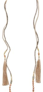 Anthropologie tassel tie necklace