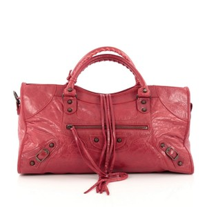 Balenciaga Leather Satchel in Red