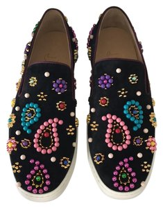 Christian Louboutin black pink green yellow gold purple blue red Flats