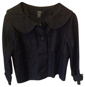Kenneth Cole Black Womens Jean Jacket
