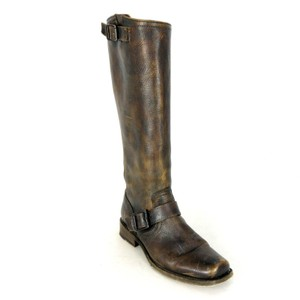 Frye Leather Marbled Classic Brown Boots