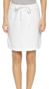 James Perse Draw String Mini Skirt white