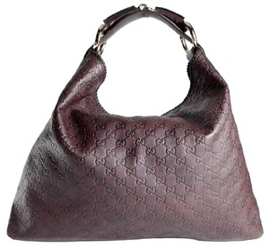 Gucci guccissima horsebit brown leather hobo Hobo Bag