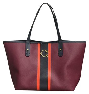 C. Wonder C Stripes Tote in Maroon, Orange, Navy