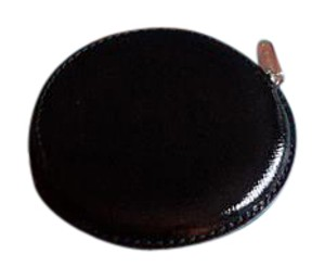 Tiffany & Co. Tiffany Nwot Black Leather Coin Purse Leather Round Coin Purse