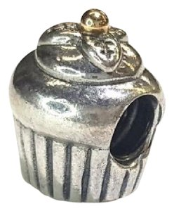 PANDORA Cupcake Yellow Gold and Sterling Silver Charm