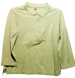 Esprit Women Clothing Button Down Shirt Beige