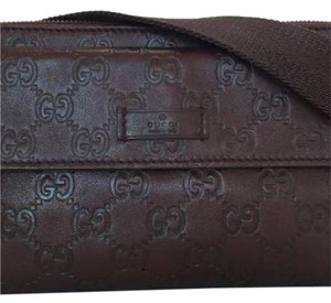 gucci guccissima waist pouch brown Travel Bag