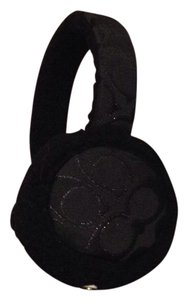 Coach coach black earmuffs