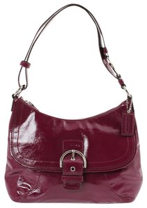 Coach Crossbody Patent Leather Leather Shoulder Bag