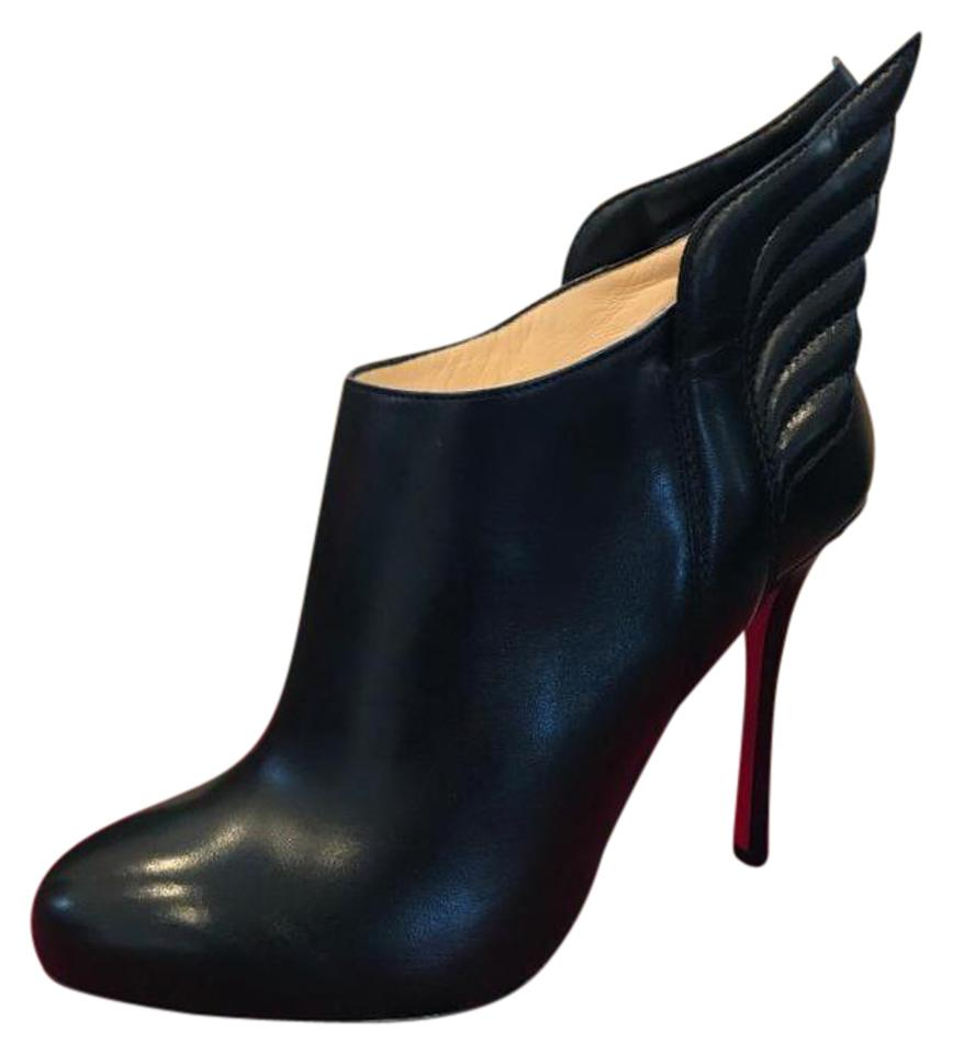 762673fa6e5 Christian Louboutin Black Mercura Wing Leather Ankle Heels 37 Boots/Booties  Size EU 37.5 (Approx. US 7.5) Regular (M, B) 39% off retail