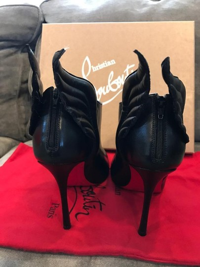 Christian Louboutin Ankle Mercura Wing Black Boots Image 4