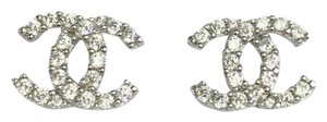 & Other Stories 18k Solid White Gold Cute Italian Stud Earrings With ZC CC style
