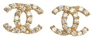 & Other Stories 18k Solid Yellow Gold Cute Italian Stud Earrings With ZC CC style