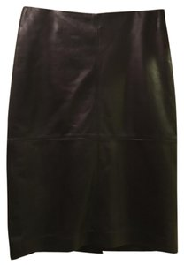 Talbots Leather Soft Supple Skirt Black