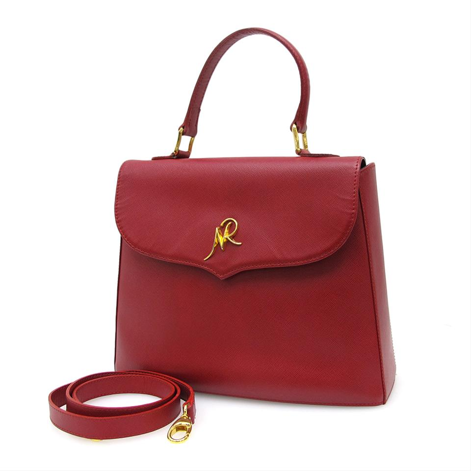 ef49988647cd Nina Ricci 2 Way Handbag Day Shipping Bourdeaux Leather Shoulder Bag ...