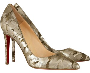 Christian Louboutin Camo Pigalle Camouflage 37 Green Pumps