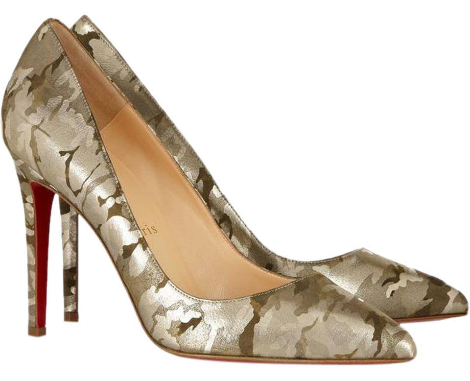 the latest 7e1f8 25a7f Christian Louboutin Green Pigalle 100 Camouflage 37 Pumps Size US 6.5  Regular (M, B) 65% off retail