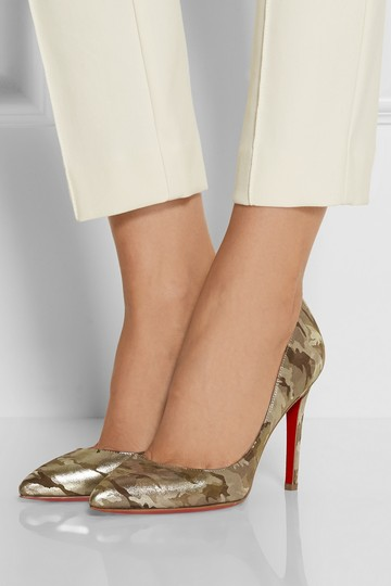 Christian Louboutin Camo Pigalle Camouflage 37 Green Pumps Image 1