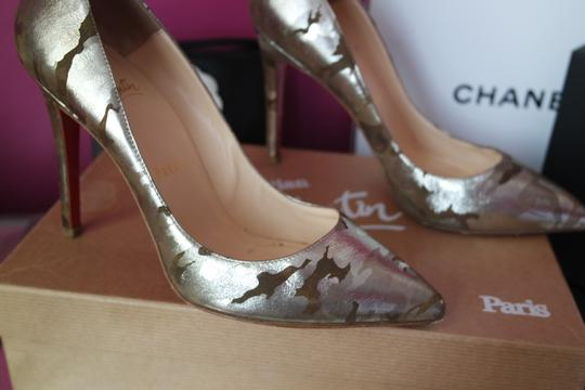 Christian Louboutin Camo Pigalle Camouflage 37 Green Pumps Image 2