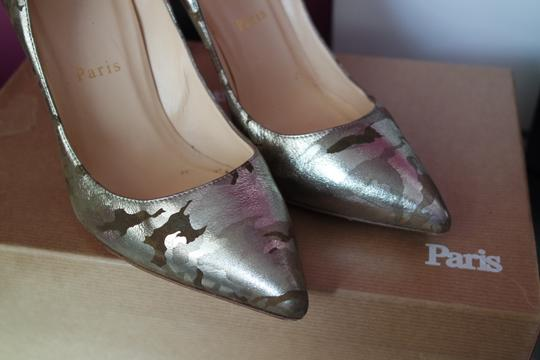 Christian Louboutin Camo Pigalle Camouflage 37 Green Pumps Image 4