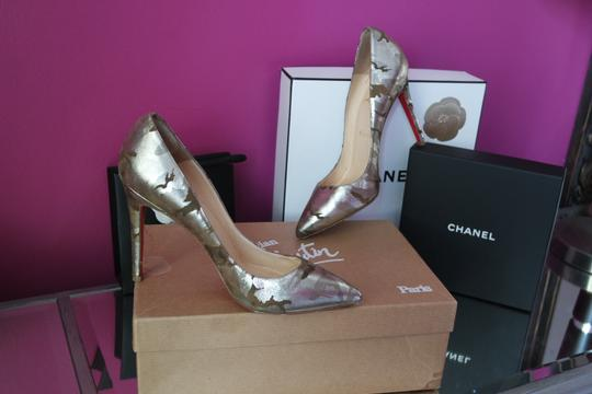 Christian Louboutin Camo Pigalle Camouflage 37 Green Pumps Image 7