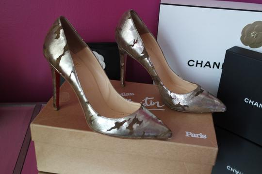 Christian Louboutin Camo Pigalle Camouflage 37 Green Pumps Image 9