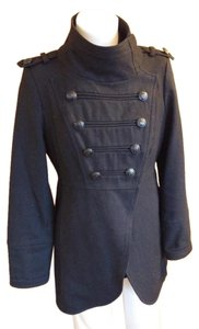 Coffee Shop Wool Peacoat Double Breasted Military Style Military Jacket