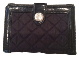 Burberry Burberry Black Quilted Nylon and Patent Leather Wallet