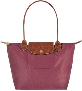 Longchamp Le Pilage Large Tote in fig