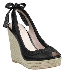 Coach Chic Summer Summer Sandal Black Wedges
