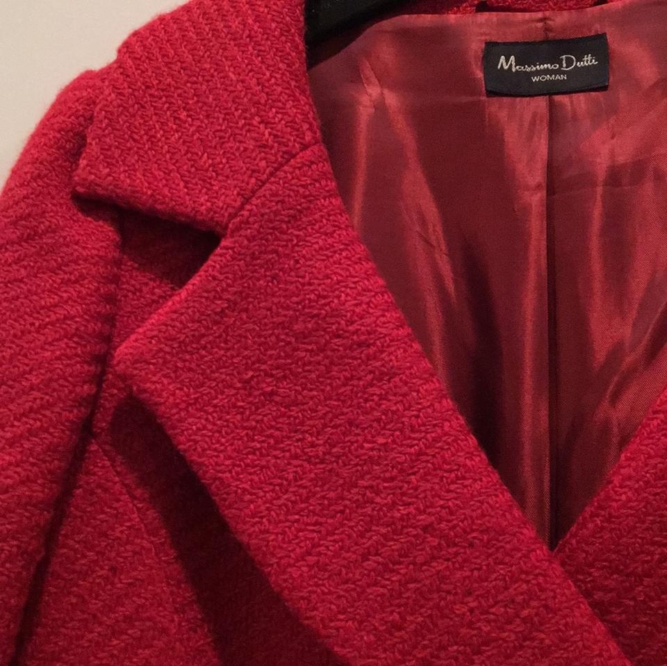 8ab25697ca8dd Massimo Dutti Red Coat Size 6 (S) 59% off retail
