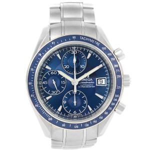 Omega Omega Speedmaster Date Blue Dial Steel Watch 3212.80.00 Box Papers