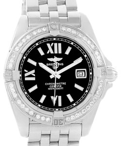 Breitling Breitling Cockpit Black Dial Steel Diamond Ladies Watch A71356