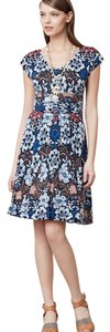 Anthropologie short dress blue, pink, black on Tradesy