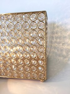 Crystal Wedding Card Box / Money Bank Gold/silver Handmade Rectangle