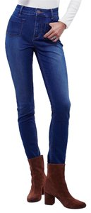 Free People High Rise Skinny Cute Af Skinny Jeans-Dark Rinse