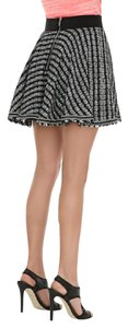 MILLY Mini A La Chanel Mini Skirt Black and white tweed with frayed hem!