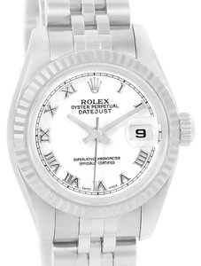 Rolex Rolex Datejust Steel White Gold White Roman Dial Ladies Watch 179174