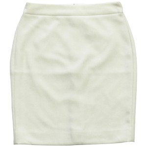 J.Crew Pencil Double-serge Wool Petite Skirt Ivory