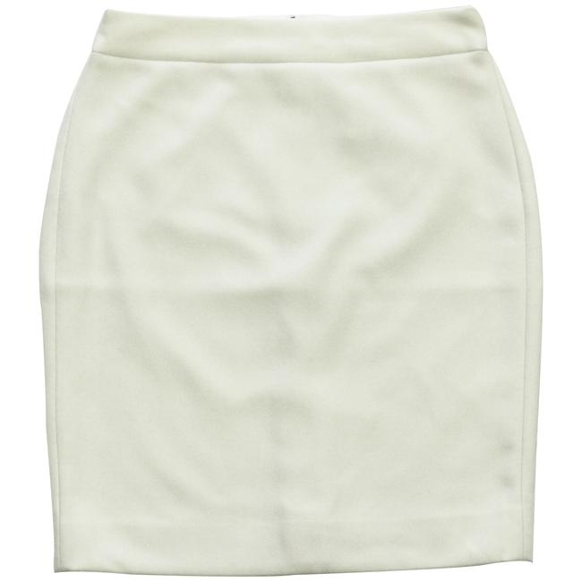 J.Crew Pencil Double-serge Wool Petite Skirt Ivory Image 0